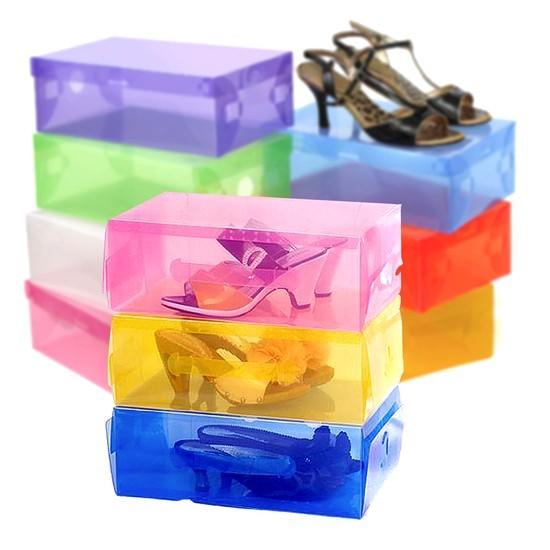 Bộ 16 hộp đựng giầy nhựa trong suốt