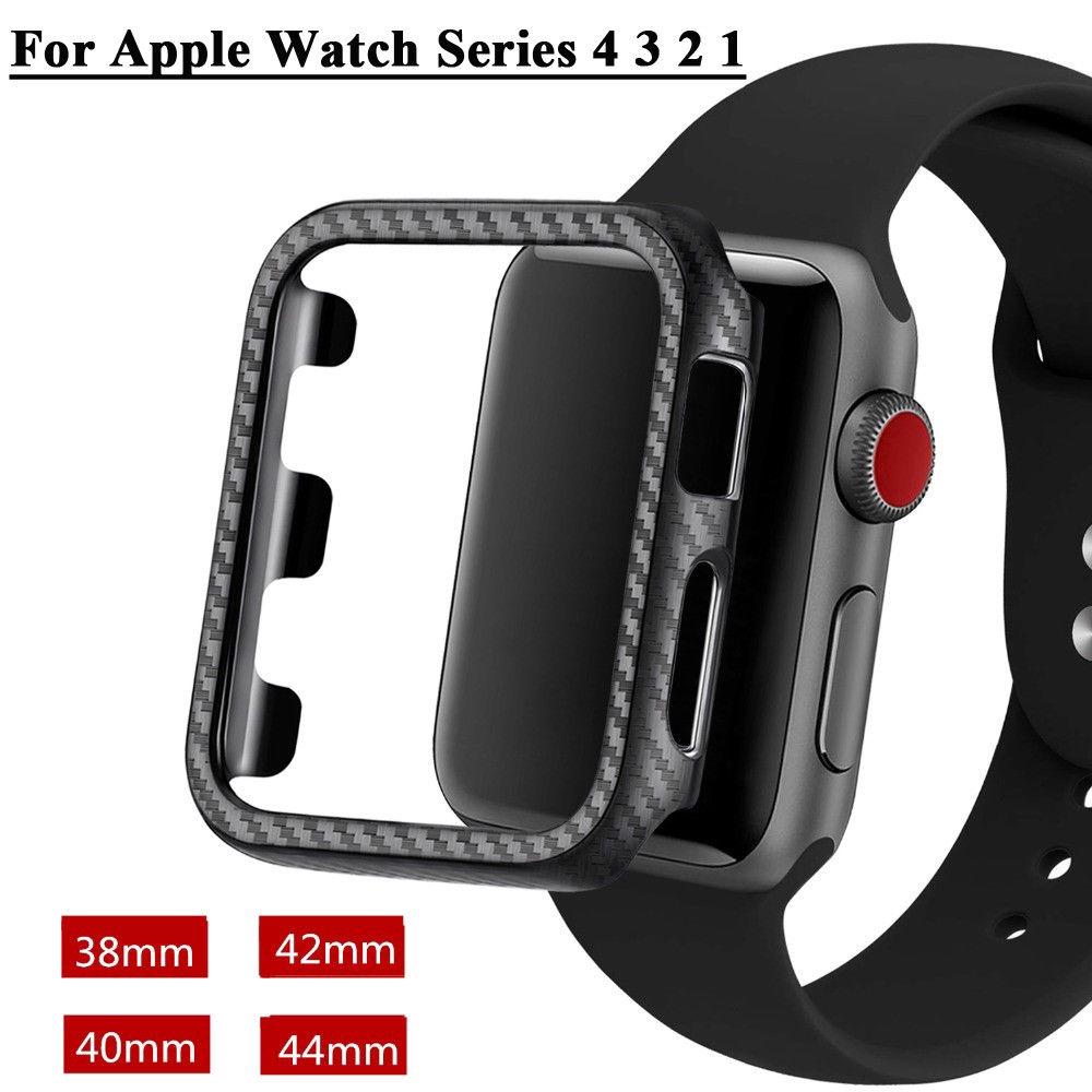 Ốp đồng hồ thông minh pha sợi carbon cho Apple Watch Series 4 3 2 1 38 / 42 / 40 /