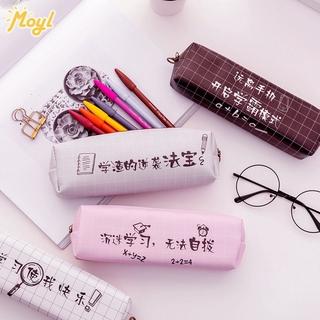 Túi đựng bút bằng vải canvas kiểu dáng đơn giản cho nữ