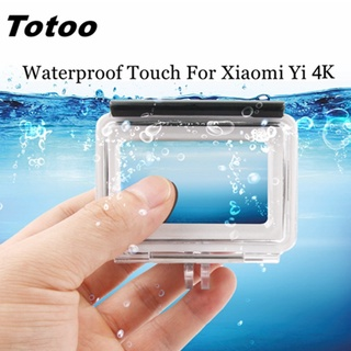 HD Durable Tempered Lens Housing For Xiaomi Yi 2 4K Waterproof Case With Touch Back Screen For Yi Lite 4K+Plus Box Accessories【oy】