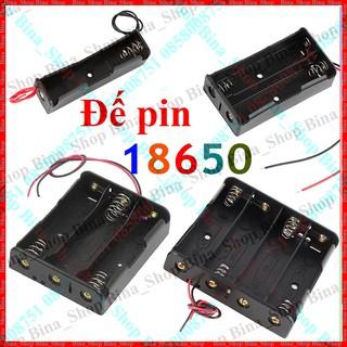 Đế gắn pin 18650 nối tiếp có dây Đế lò xo gắn pin 1/2/3/4 cell li-ion