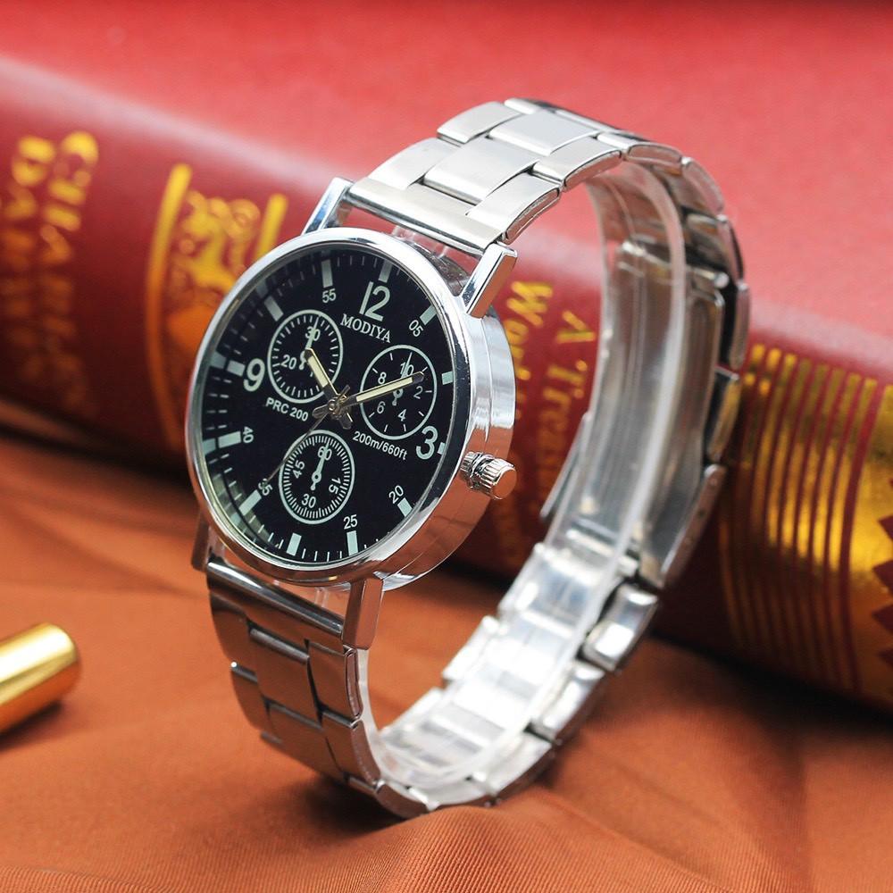 Đồng hồ nam Bamezo đeo tay cao cấp dây kim loại Modiya DH100