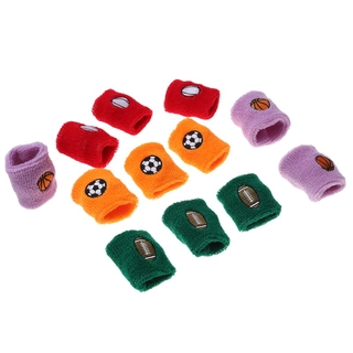 12Pc Sports Wristbands Stretchy Running Cotton Fitness Basketball Children Wrist Guard Bracers