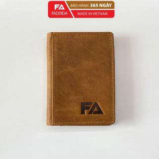 Ví mini da bò unisex FADODA VN011 đựng thẻ và tiền siêu tiện lợi - FADODA thumbnail