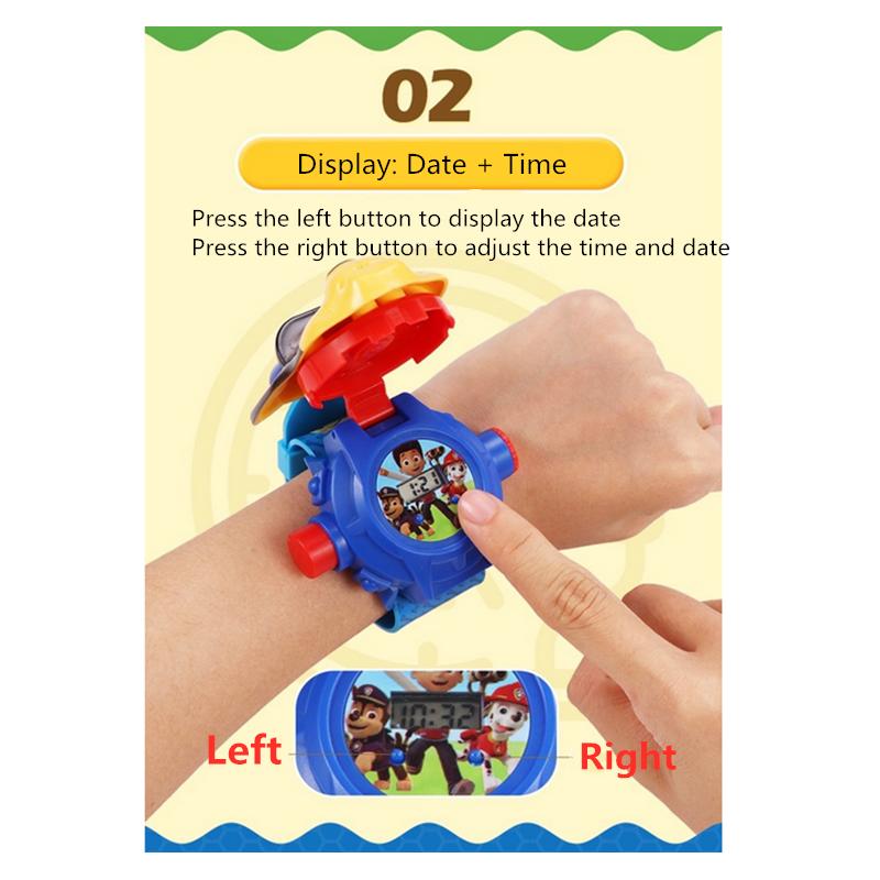 Đồng hồ đeo tay điện tử họa tiết Paw Patrol trình chiếu hình ảnh phong cách thể thao dành cho trẻ em