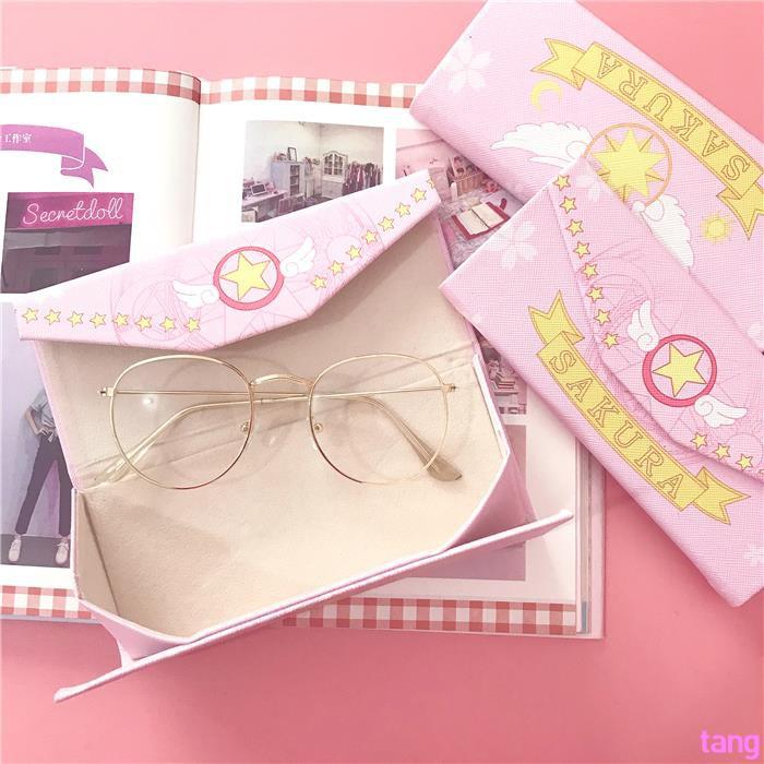 Japanese cartoon changeable folding glasses case portable magic stick girl penci