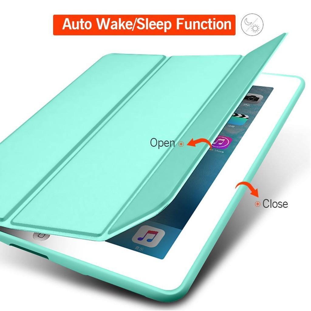 Bao da silicone dẻo - Smart cover dành cho iPad Mini123/ Mini 4/ Air/ Air 2/ New 2017/ Pro 9.7/...