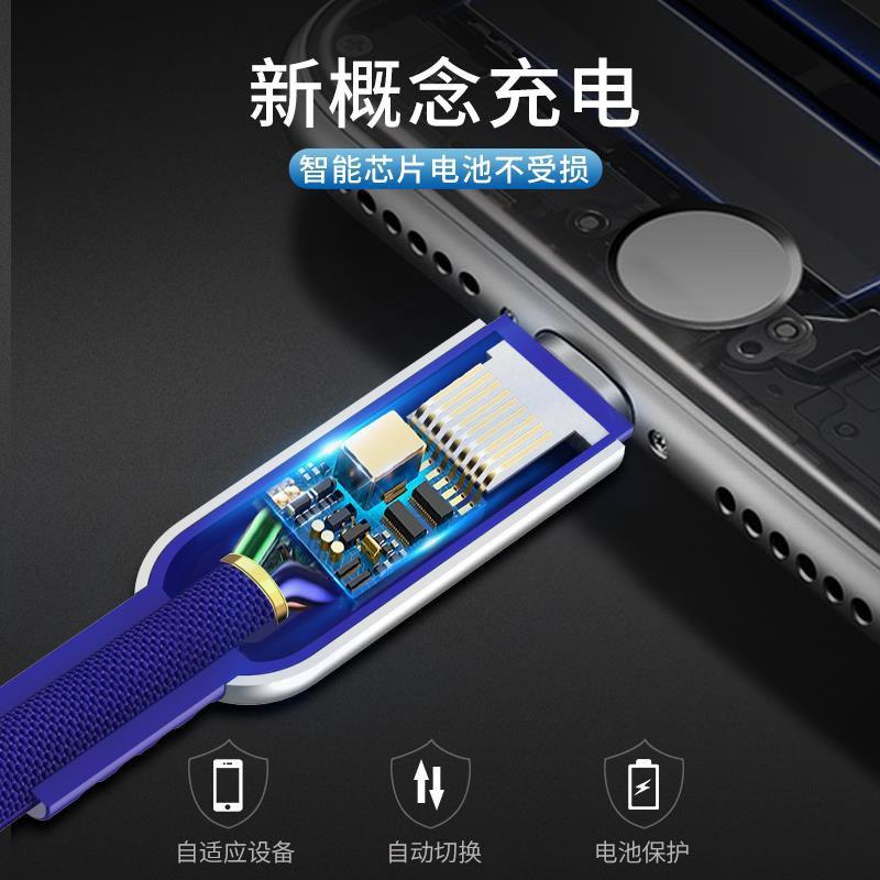 Dây Sạc Tự Ngắt Thông Minh Hoco U79 Iphone/ Micro usb/ Type C Chiều Dài 1.2M