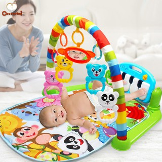 C✞ Kids Children Fitness Rack Baby Toys Piano Music Blanket Play Plastic Intellectual Development
