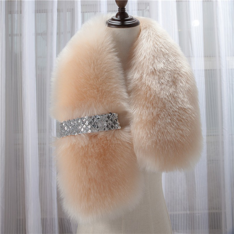 Khăn choàng lông giả thời trang thu đông cá tính cho nữ