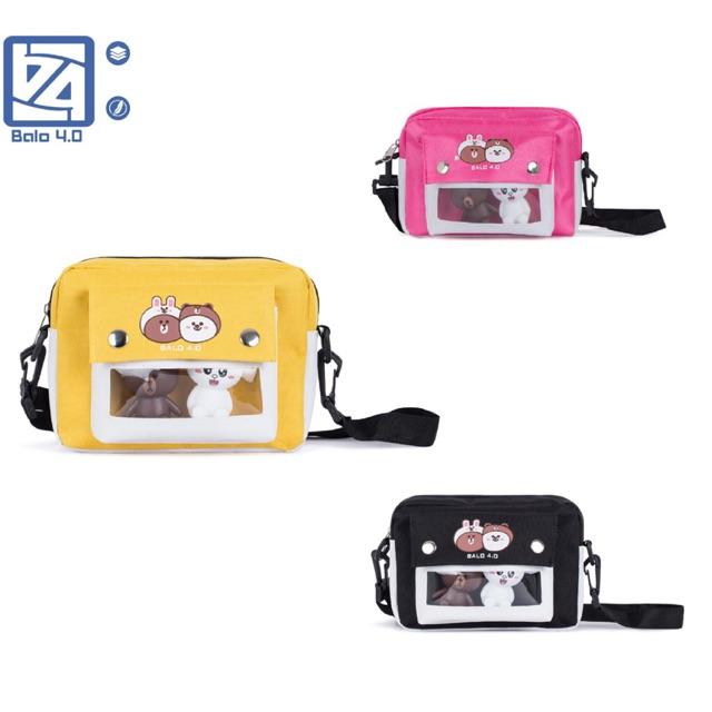 Túi đeo chéo nữ hình gấu dễ thương phong cách Hàn Quốc cực cool Balo4.0