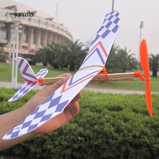 JUL Hand Throw Flying Glider Plane Plastic Aeroplane Aviation Model Kids Toy Gift