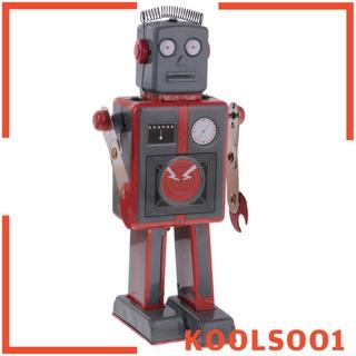 [KOOLSOO1] Cool Wind Up Walking Robot Antenna Clockwork Tin Toy w/ Key Collectible Gift