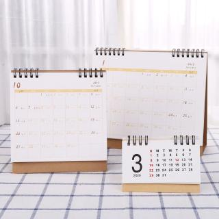 T07 Simple Desktop Standing Paper 2020 Double Coil Calendar Memo Daily Schedule Table Planner thumbnail