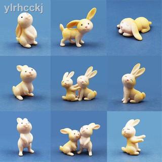 Dễ Thương Đồ Chơi Mô Hình Chú Thỏ Mini Bằng Nhựa Đáng Yêu
