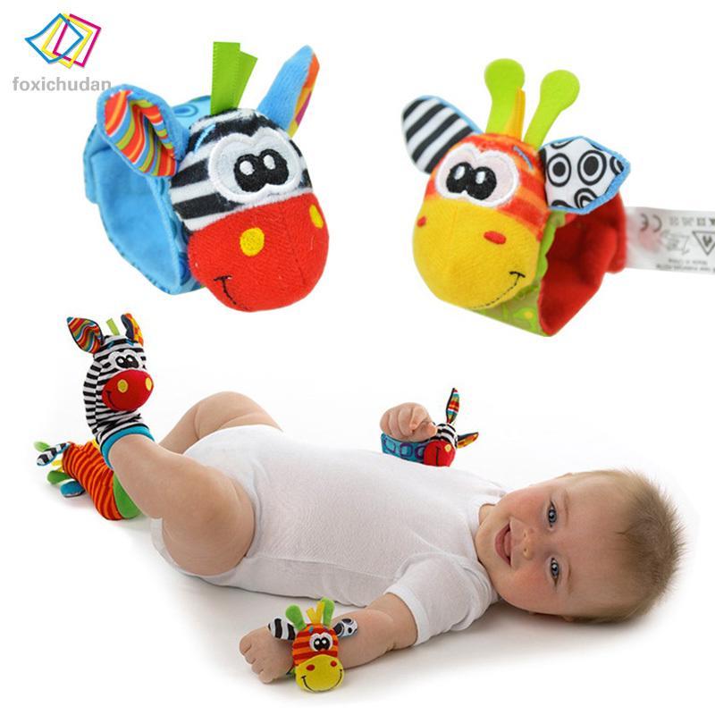FCD 2 Infant Baby Kids Foot Socks Rattles Foot Finders Toys