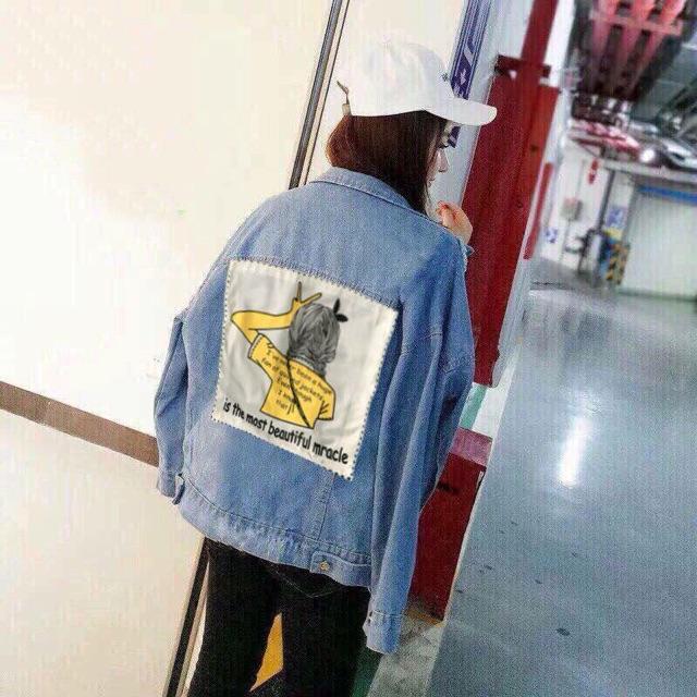 Áo khoác jeans hình sau lưng