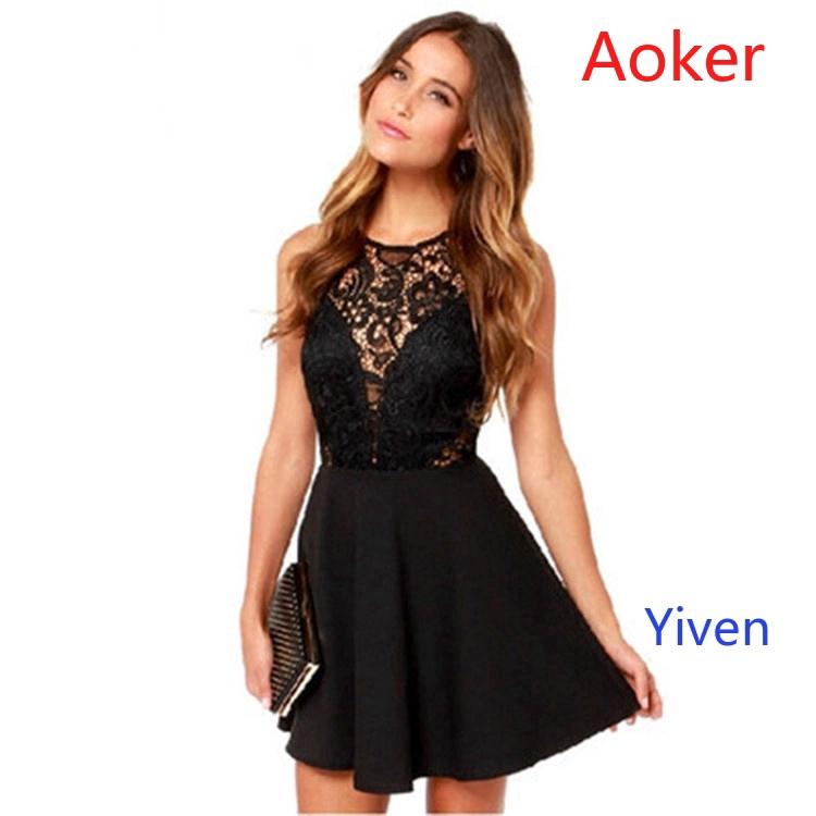 Đầm đen không tay hở lưng