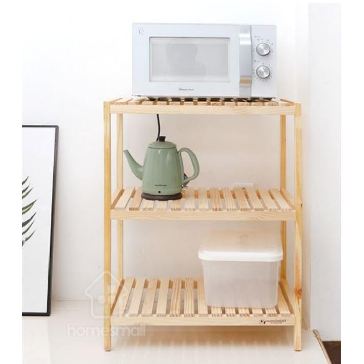 💥NowShip💥 Kệ lò vi sóng gỗ đa năng 3 tầng