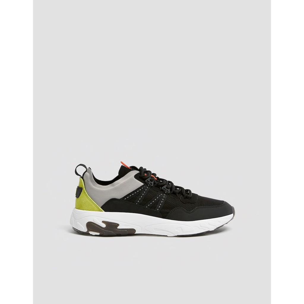 Giày sneaker nam Pull&bear authentic màu Black