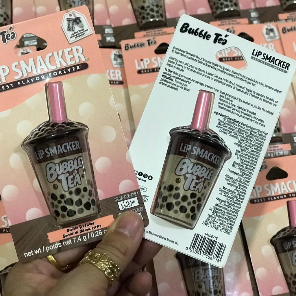 [Hàng có tem] Son dưỡng môi Lip Smacker vị trà sữa trân châu truyền thống (có sẵn)