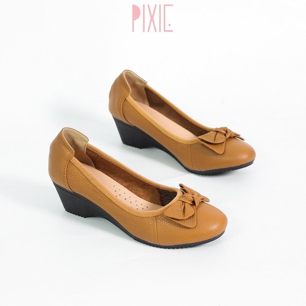 Giày Búp Bê Nữ Đế Xuồng 3cm Da Thật Pixie X461