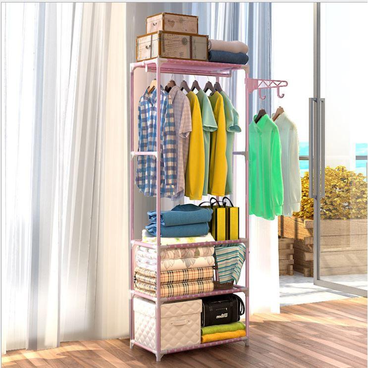 Kệ treo quần áo 4 tầng 3 ngăn cao cấp