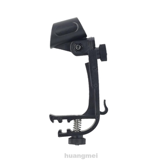 1pair Fixed Clip Universal Plastic Multifunction Stage Drum Mount Adjustable Height Shockproof Microphone Holder