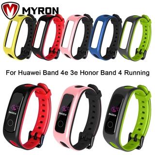 Dây Đeo Thay Thế Chất Liệu Silicon Màu Trơn Thời Trang Cho Đồng Hồ Thông Minh For Huawei Band 4e 3e Honor Band 4 Running