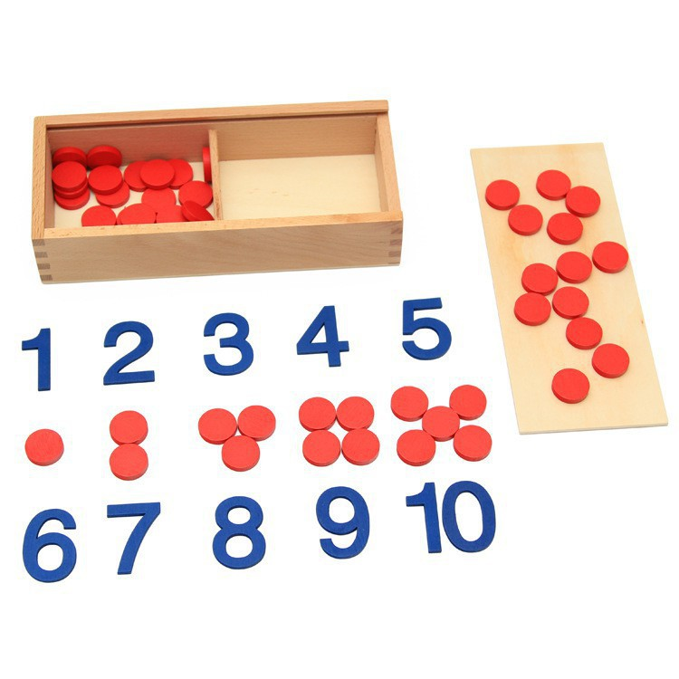 Đồ Chơi Gỗ Bộ Học Nhận Biết Số, Đếm Số Và Chẵn Lẻ Montessori