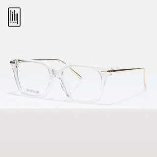 Gọng kính trong suốt unisex Lilyeywear nhựa cứng càng kim loại , kiểu dáng mắt vuông , 2 màu càng cơ bản – 0004