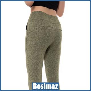 Quần Legging Nâng Mông Bosimaz MS523 dài túi trước màu xanh, thun co giãn 4 chiều, vải đẹp dày, thoáng mát không xù lông thumbnail