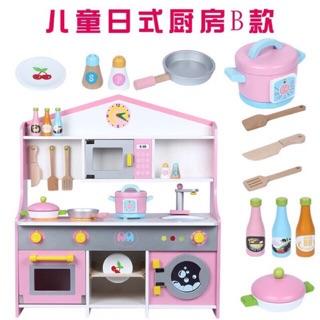 Bộ bếp bằng gỗ cho bé