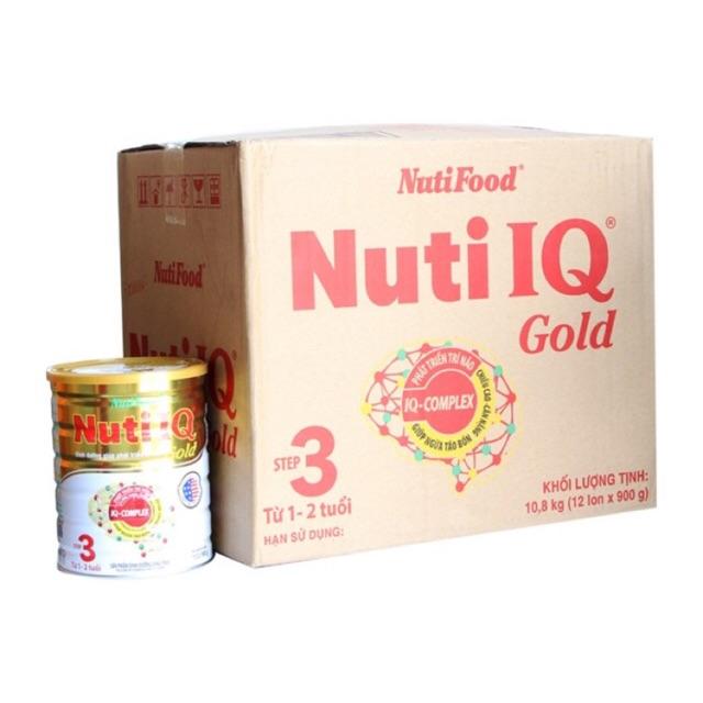 Thùng 12 hộp sữa bột nuti IQ Gold step 3 900g - 2628123 , 142181017 , 322_142181017 , 2100000 , Thung-12-hop-sua-bot-nuti-IQ-Gold-step-3-900g-322_142181017 , shopee.vn , Thùng 12 hộp sữa bột nuti IQ Gold step 3 900g
