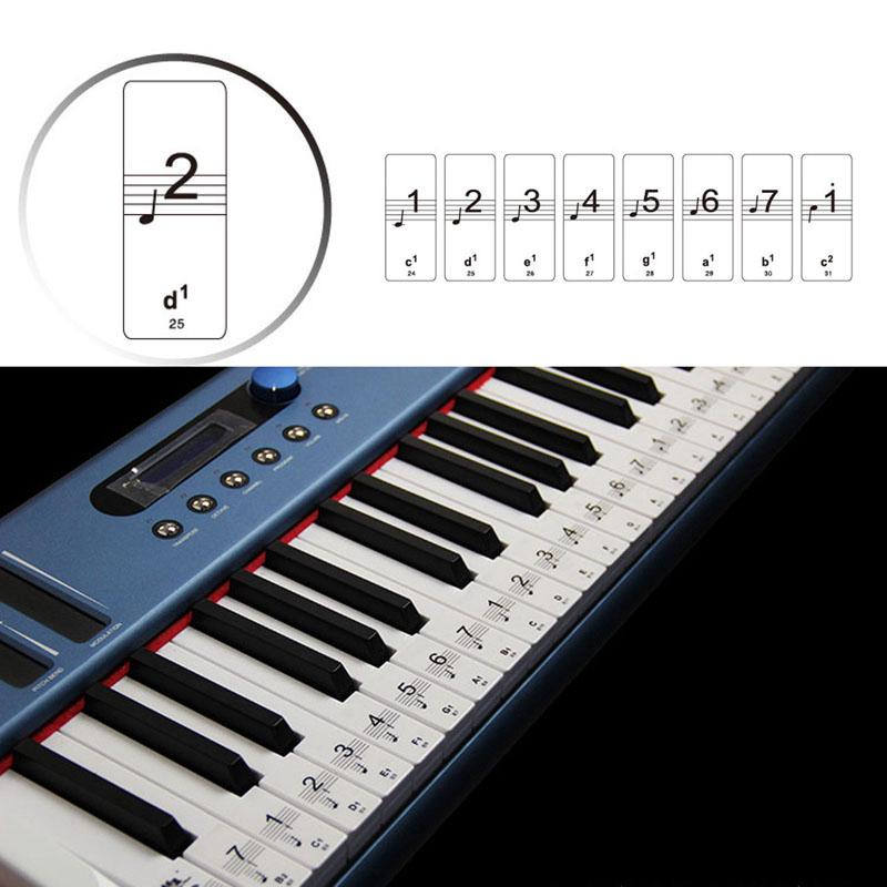 Music Keyboard Or Piano Stickers 88 KEYs SET Removable LAMINATED Stickers