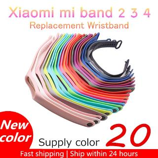 Replacement silicon strap for Xiaomi mi band 2 3 4 5 smartwatch thumbnail