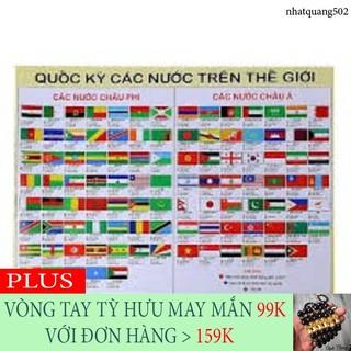 [KHYẾN MẠI KHỦNG] Bộ 100 quốc kỳ các nước bằng gỗ