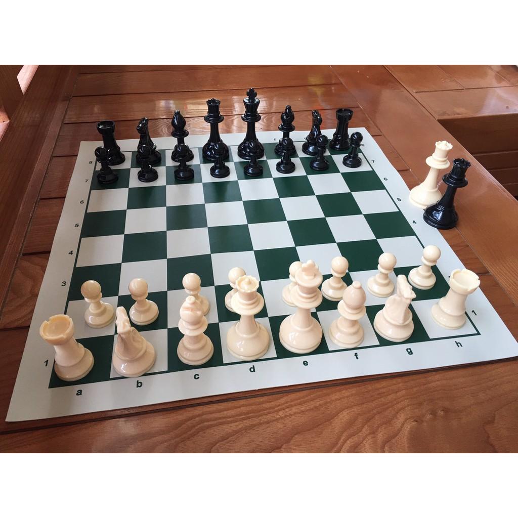 Bộ cờ vua tiêu chuẩn thi đấu quốc tế – Cờ vua tiêu chuẩn quốc tế Quân cờ đặc ruột, Cờ vua Cao Cấp Chính Hãng