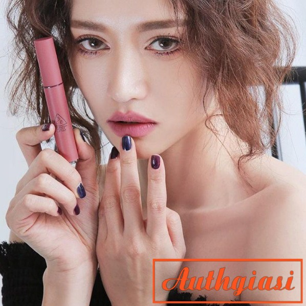 Son kem 3CE Velvet Lip Tint Go Now màu Tím Nude ấn tượng