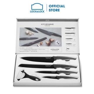 Bộ dao nhà bếp 5 món COOKPLUS Lock & Lock CKK101S5BLK thumbnail