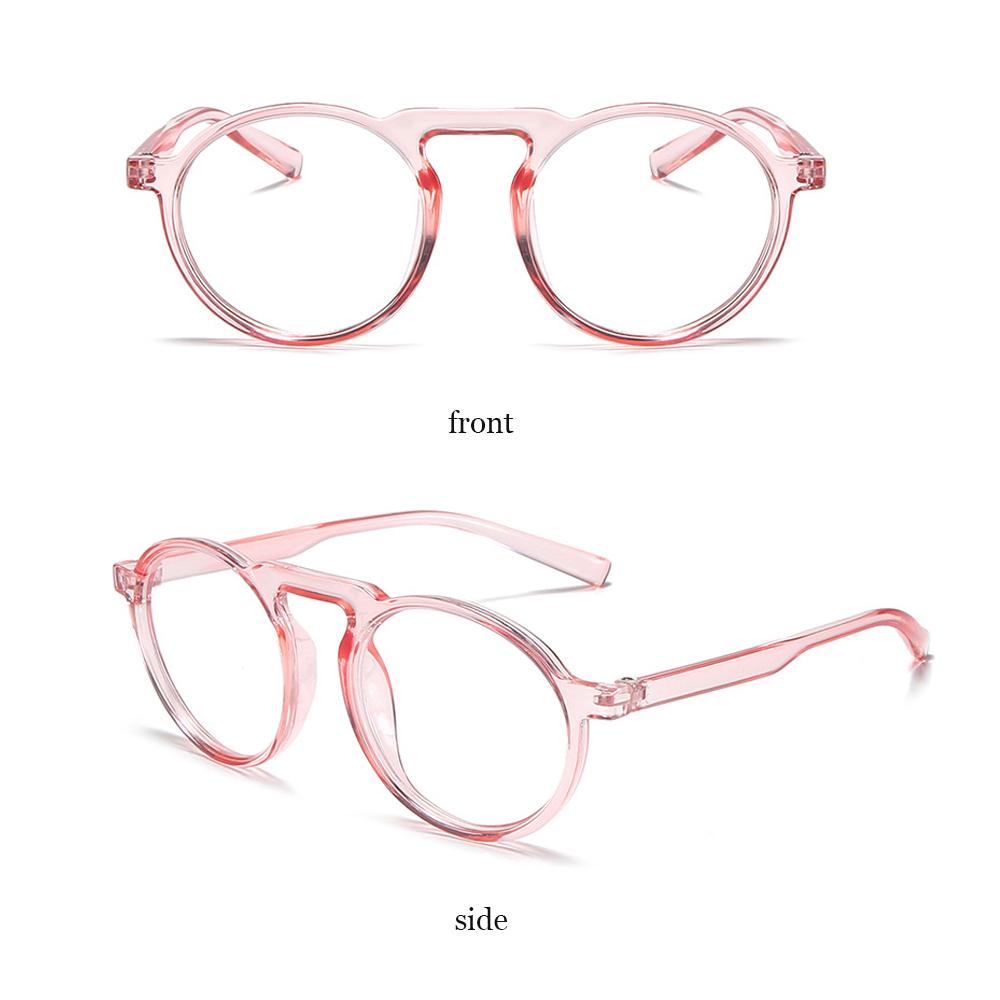 👒OSIER🍂 Improve Comfort Optical Spectacle Frames Round Frame Resin Lens Anti Blue Ray Glasses Transparent Fashion Ultralight PC Frame Radiation...