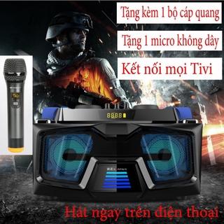 Bộ loa hát karaoke gồm 2 micro UHF dùng cho tivi smart và điện thoại A22 DM2KM