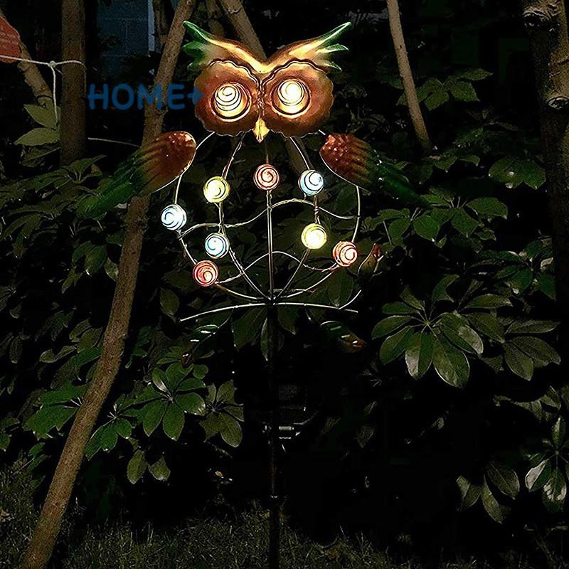Đèn Trang Trí Sân Vườn Hình Chim Cú Chạy Năng Lượng Mặt Trời