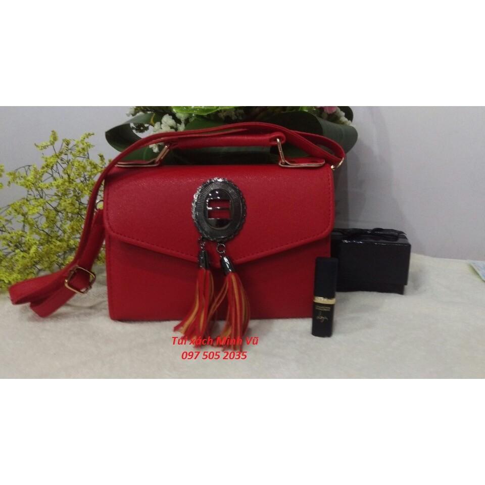 Túi xách nữ 2 râu màu đỏ
