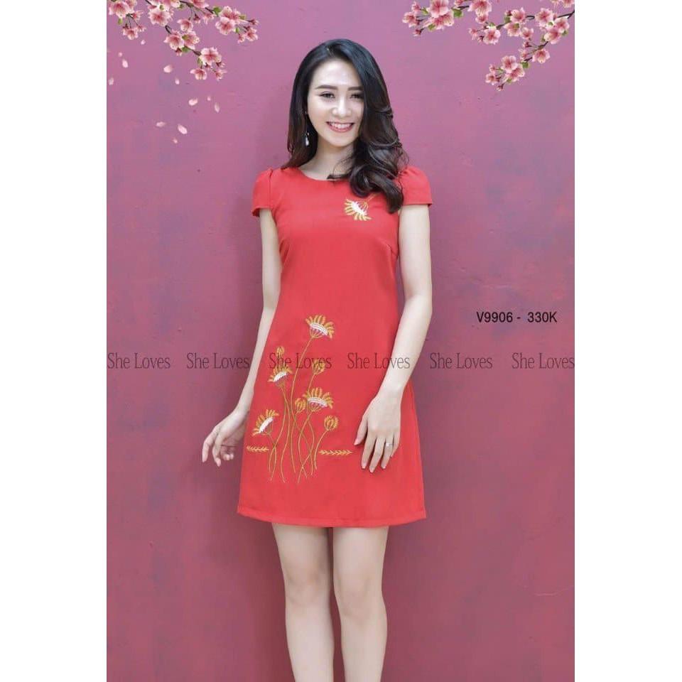 Đầm váy suông thêu hoa - 3487183 , 1062509732 , 322_1062509732 , 90000 , Dam-vay-suong-theu-hoa-322_1062509732 , shopee.vn , Đầm váy suông thêu hoa