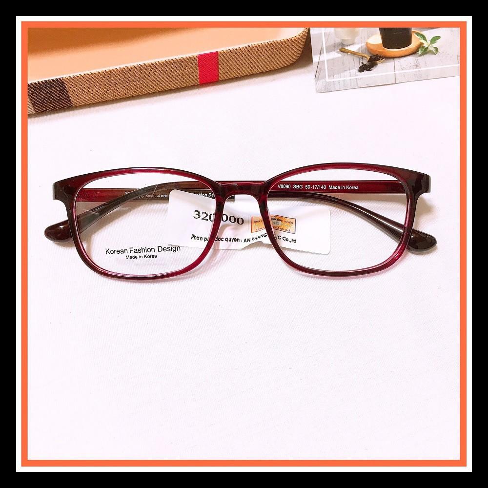 Mắt Kính bầu V8122 -gọng kính giả cận thời trang nhận cắt mắt cận viễn loạn