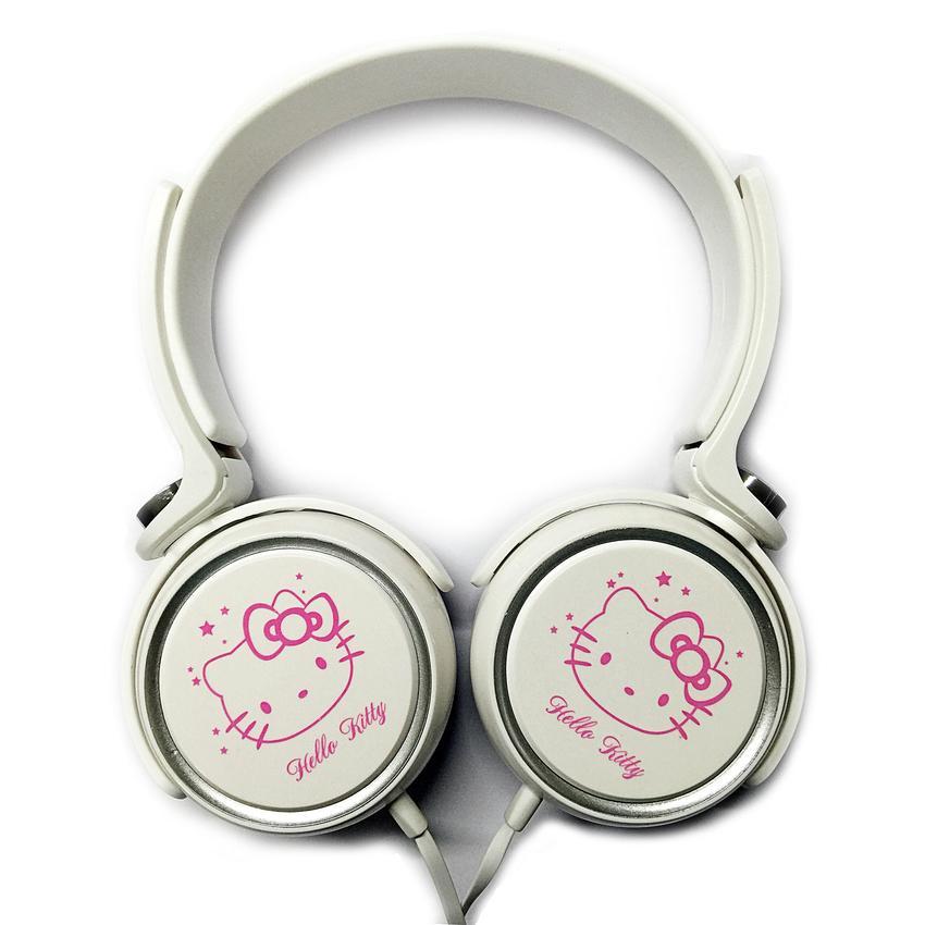 HeadPhone Chụp Tai Mèo Kitty (trắng phối hồng)