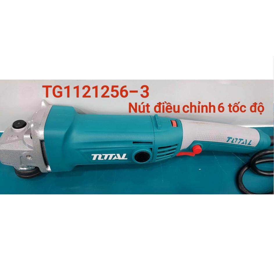 [Mã SRJULY1619 giảm 15K đơn 50K] 1010W - 125mm Máy mài góc trục M14 Total (Có điều chỉnh 6 tốc độ) TG1121256-3