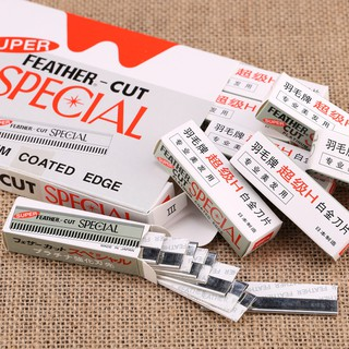 Hộp 10 chiếc lưỡi dao cạo lông mày kim loại