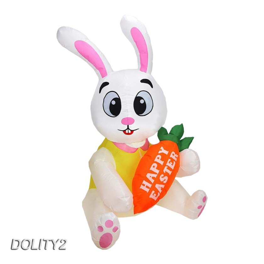 5ft Large Inflatable Easter Bunny Luminous Cute Rabbit Build-in LED Yard